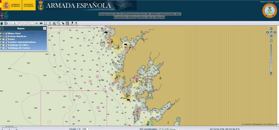 Cartas náuticas España
