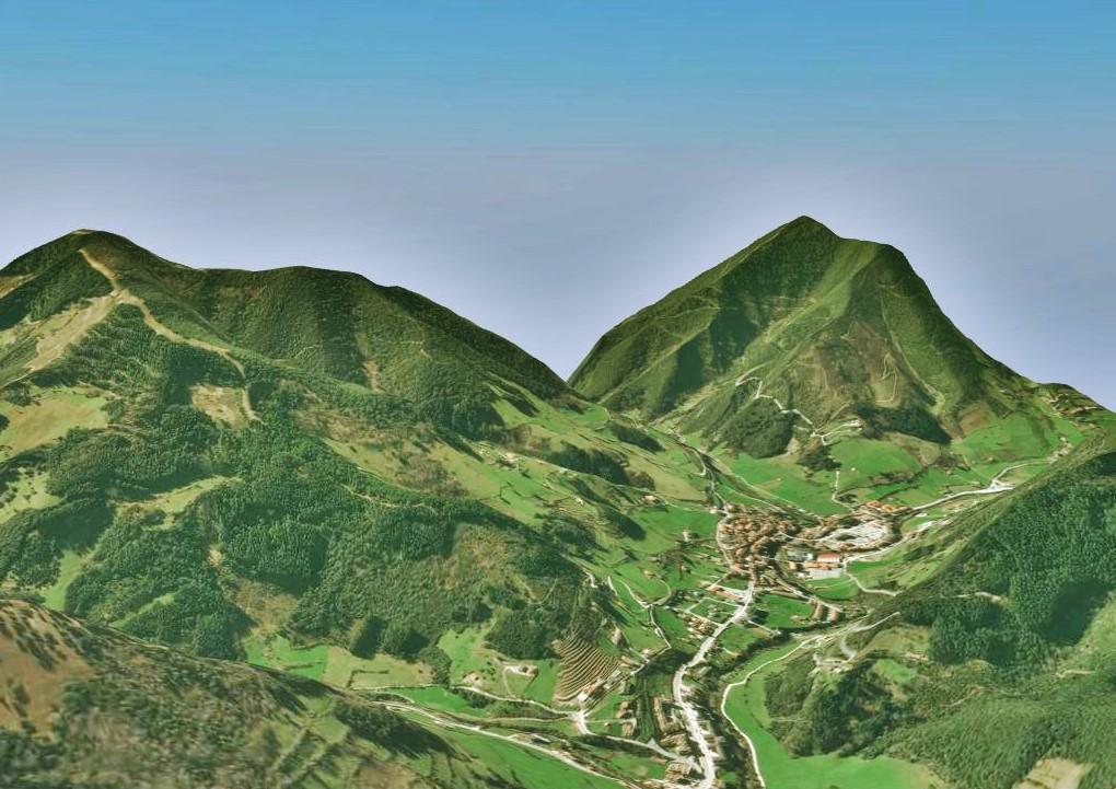 Modelo 3D de Potes (Cantabria)