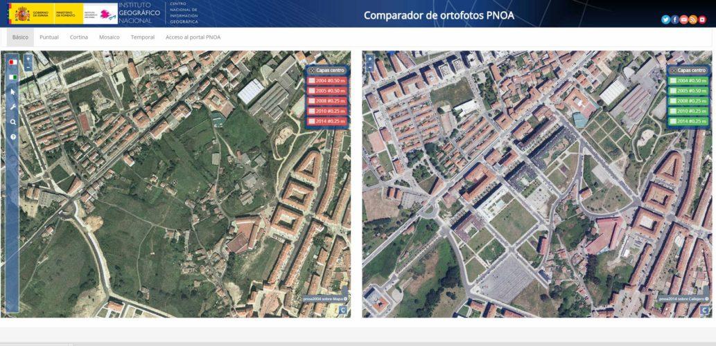 comparador ortofotos PNOA IGN